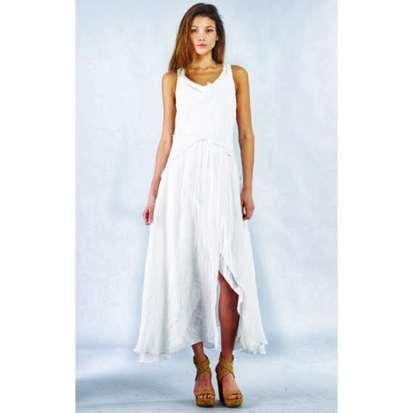 1a4d4fd82b 😯Rare Designer Luna Luz Linen Gauze Maxi Dress